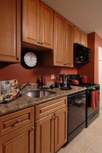 Updated kitchens - go green initiative at Hirschfeld