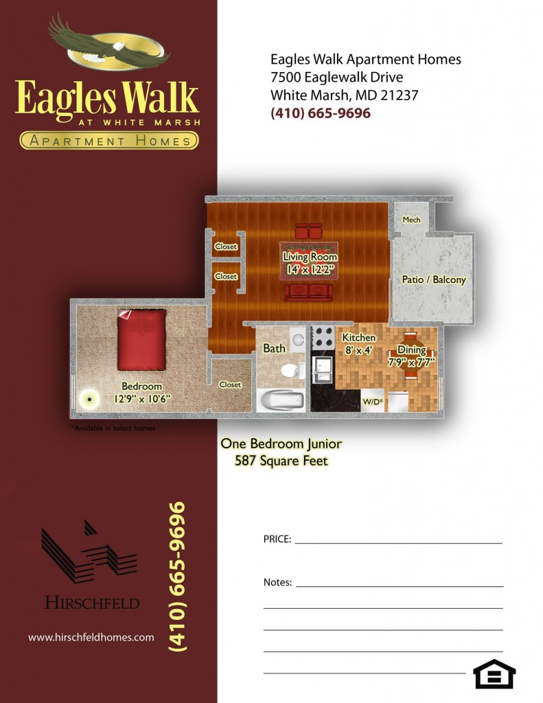 Apartments in white marsh md near baltimore eagles walk - One bedroom apartments in maryland ...