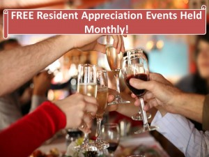 FREE Resident Appreciation Events every Month at Hirschfeld