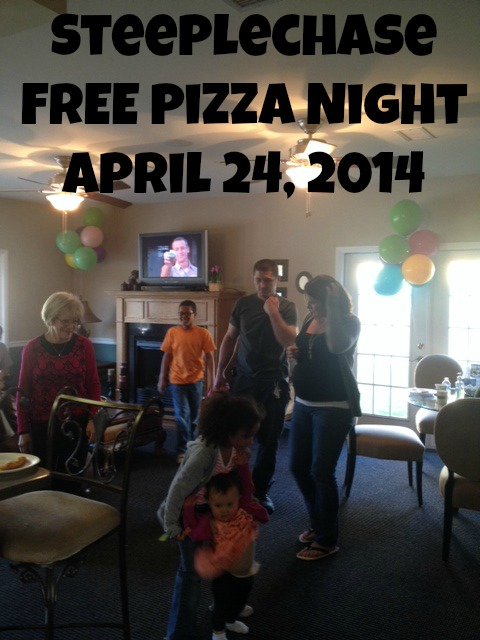 Apartments_cockeysville_MD_steeplechase_free_pizza_night_for_residents_april_2014-1