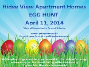 Ridge View Apartments Egg Hunt April 11, 2014