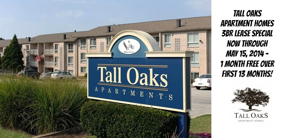 Laurel-MD-Tall-Oaks-Apartment-Homes-3BR-Lease-Specials-May2014-May15,2014