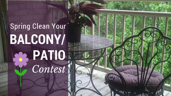 spring clean your balcony patio contest