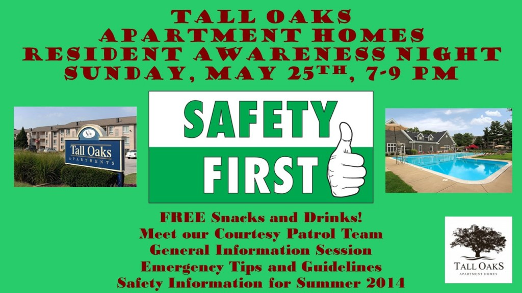 Laurel-MD-Apartments-Tall-Oaks-Resident-Awareness-Night-Emergency-Information-Safety-Tips-Summer-2014