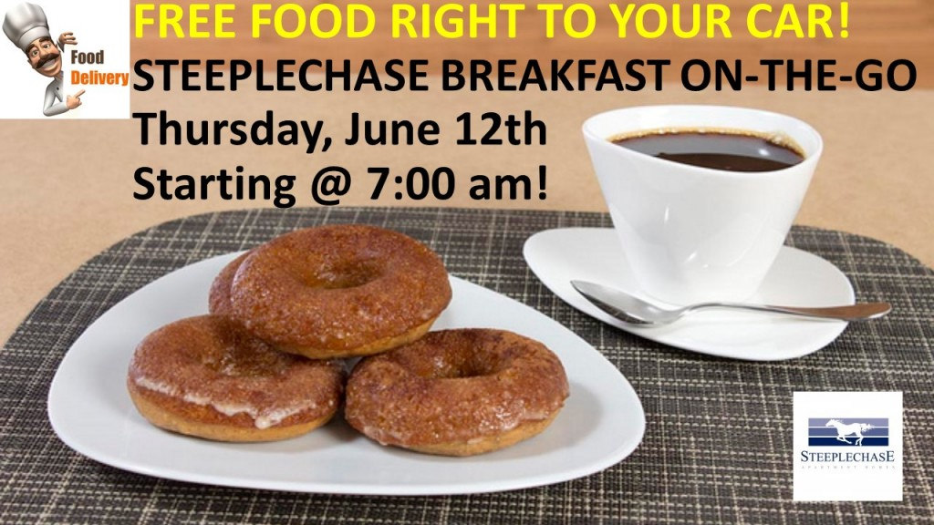 Steeplechase-Apartment-Homes-Cockeysville-MD-Breakfast On-The-Go-Free-Food-Resident-Appreciation-Event-June 2014