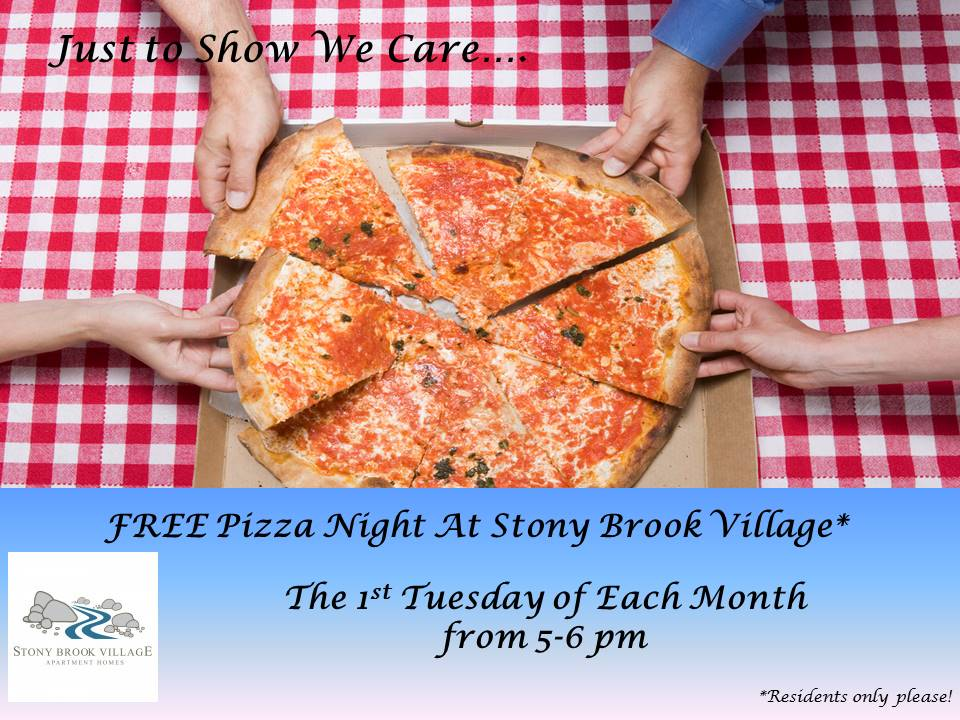 FREE Pizza Night for Residents at Stony Brook Village