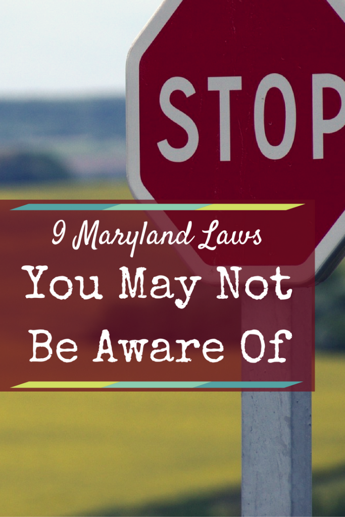 Maryland dating laws