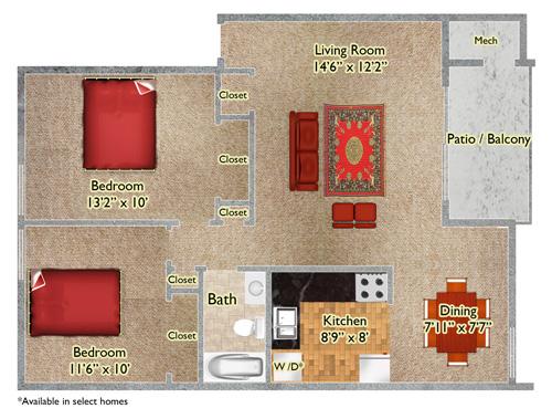2 Bedroom Apts in White Marsh, MD
