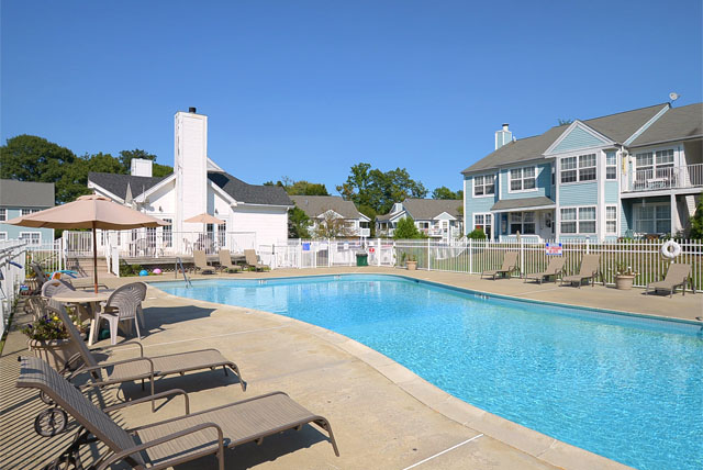 New Haven, CT Poolside resident amenities - pet friendly