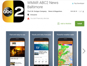 wmar abc 2 news baltimore smartphone application