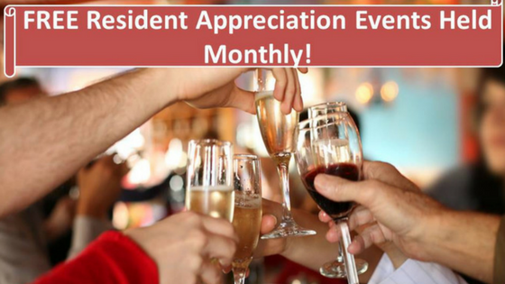 free resident appreciation events held monthly