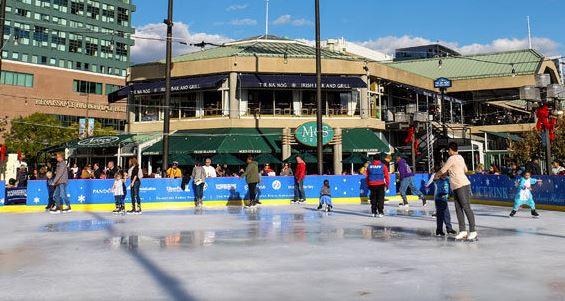 pandora ice skating rink