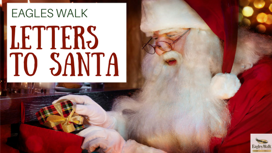 eagles walk letters to santa claus