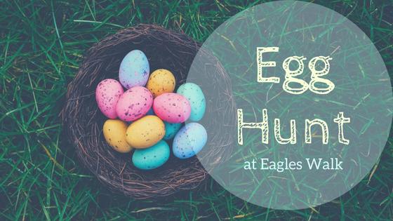 egg hunt at eagles walk