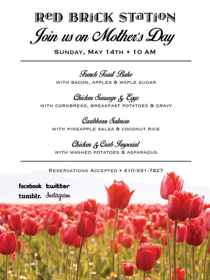 red brick station mother's day specials