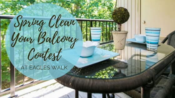 spring clean your balcony contest at eagles walk apartments