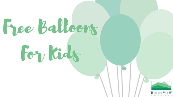Free Balloons For Ridge View Kids