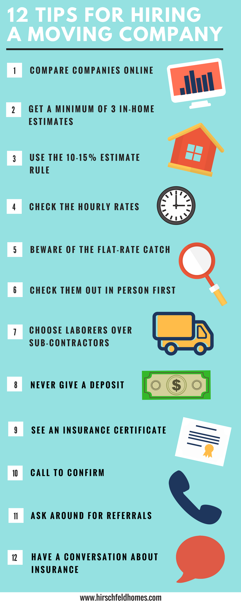 12 tips for hiring a moving company infographic