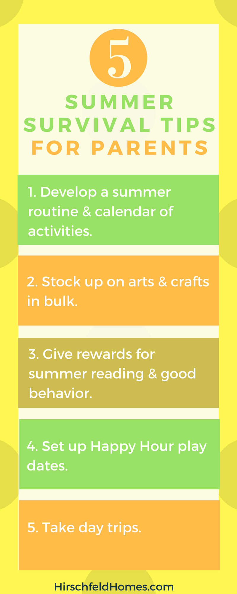 five summer survival tips for parents info graphic