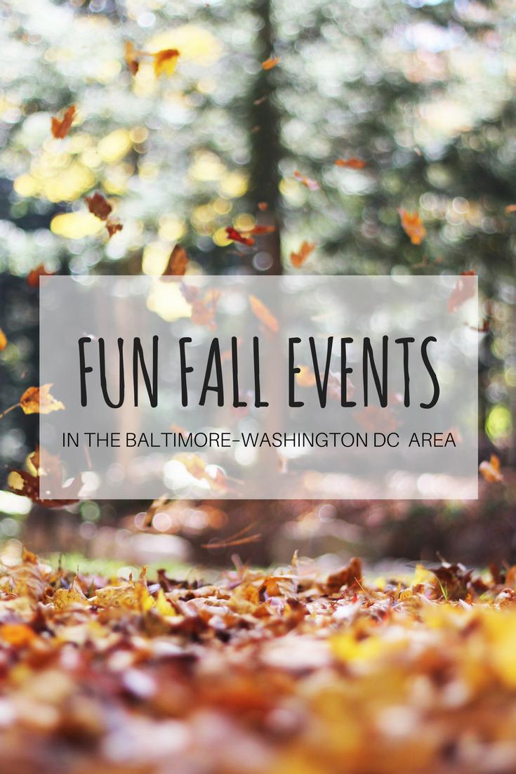 fall fun events in baltimore washington dc area