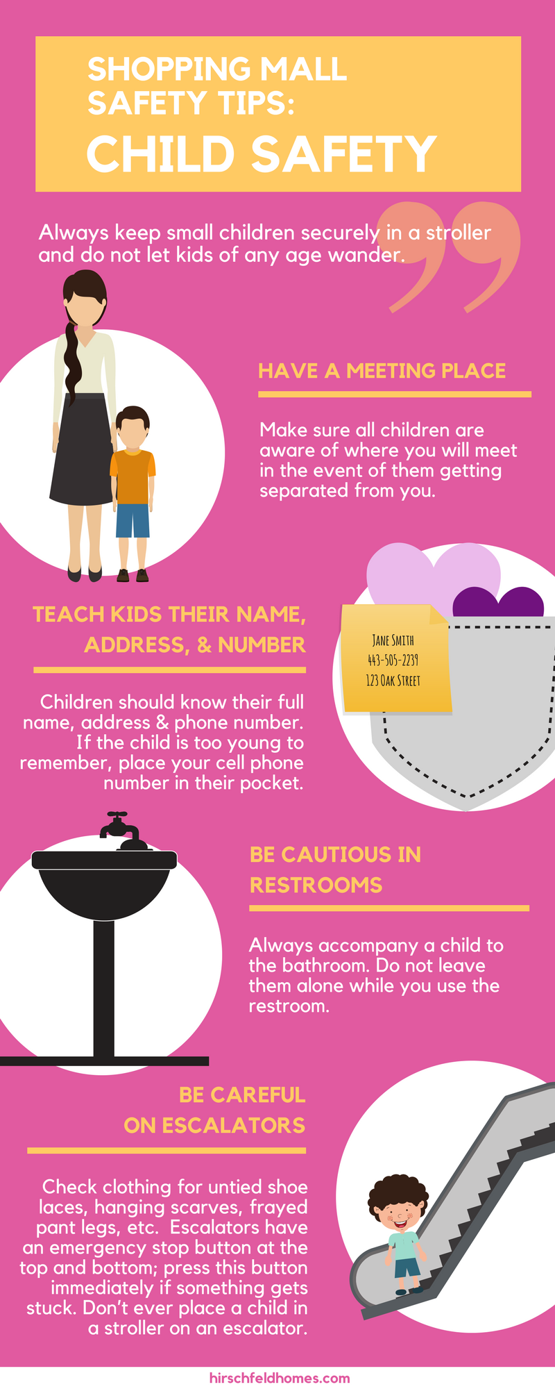 shopping mall safety tips child safety infographic