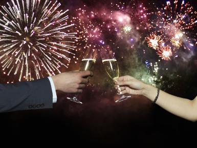 fireworks toast
