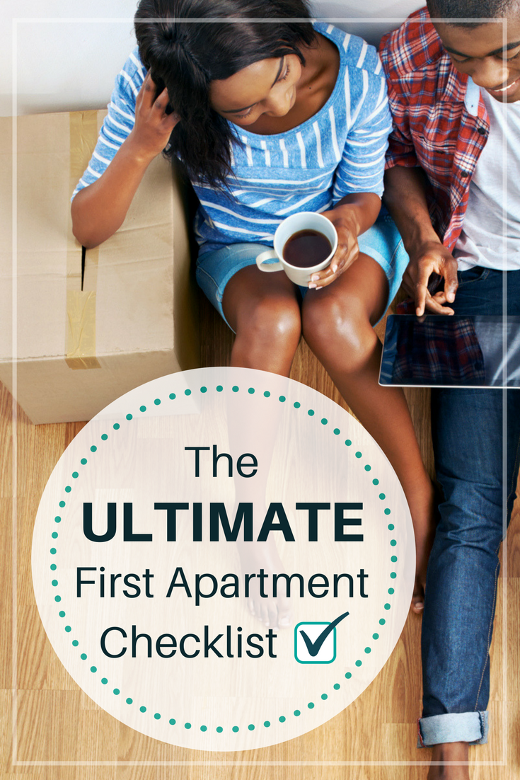 the ultimate first apartment checklist