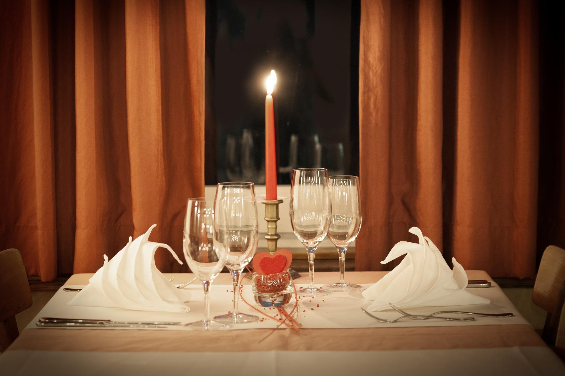 restaurant table setting for dinner for you