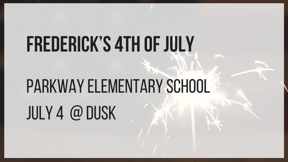 frederick's 4th of july Parkway Elementary School July 4 at dusk
