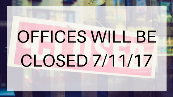 offices will be closed july 11 2017