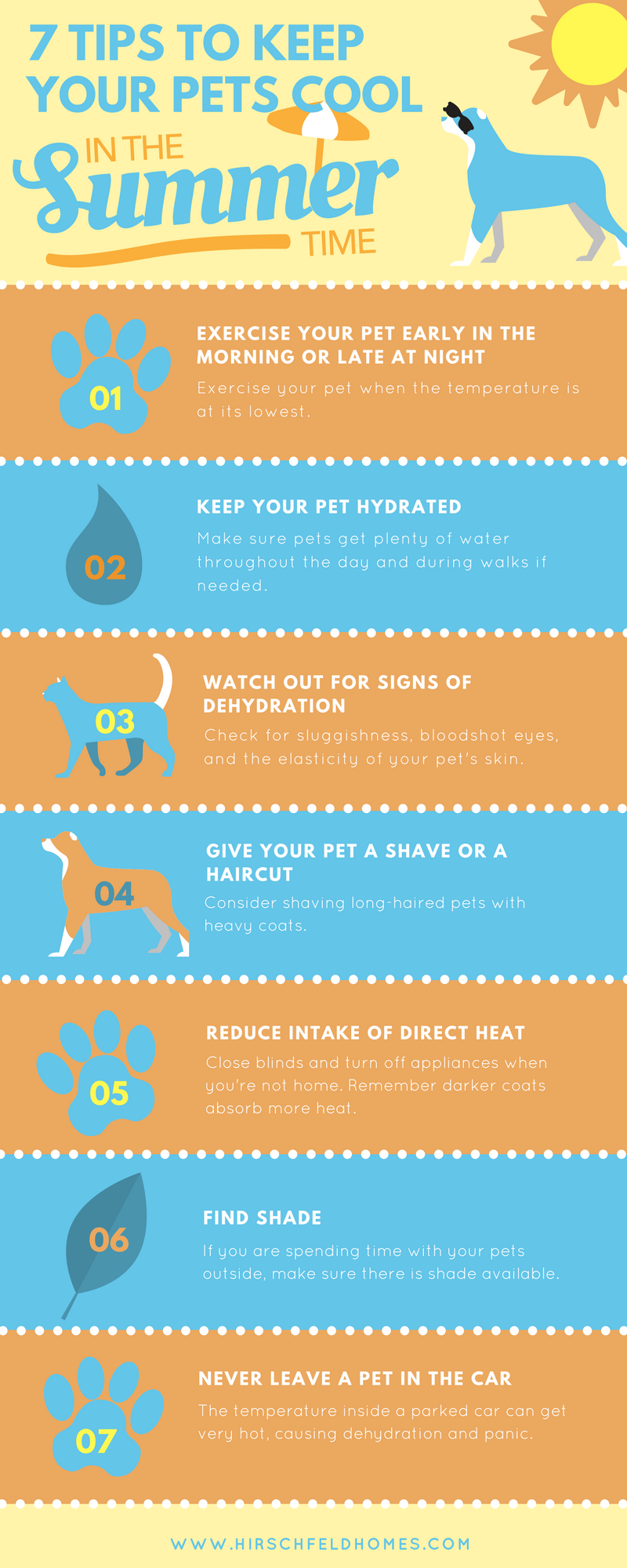 seven tips to keep your pets cool in the summer time