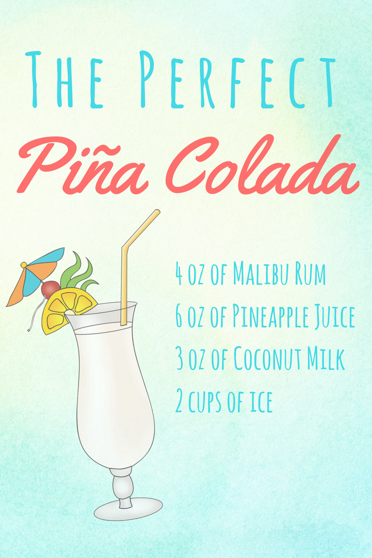ingredients for the perfect pina colada recipe