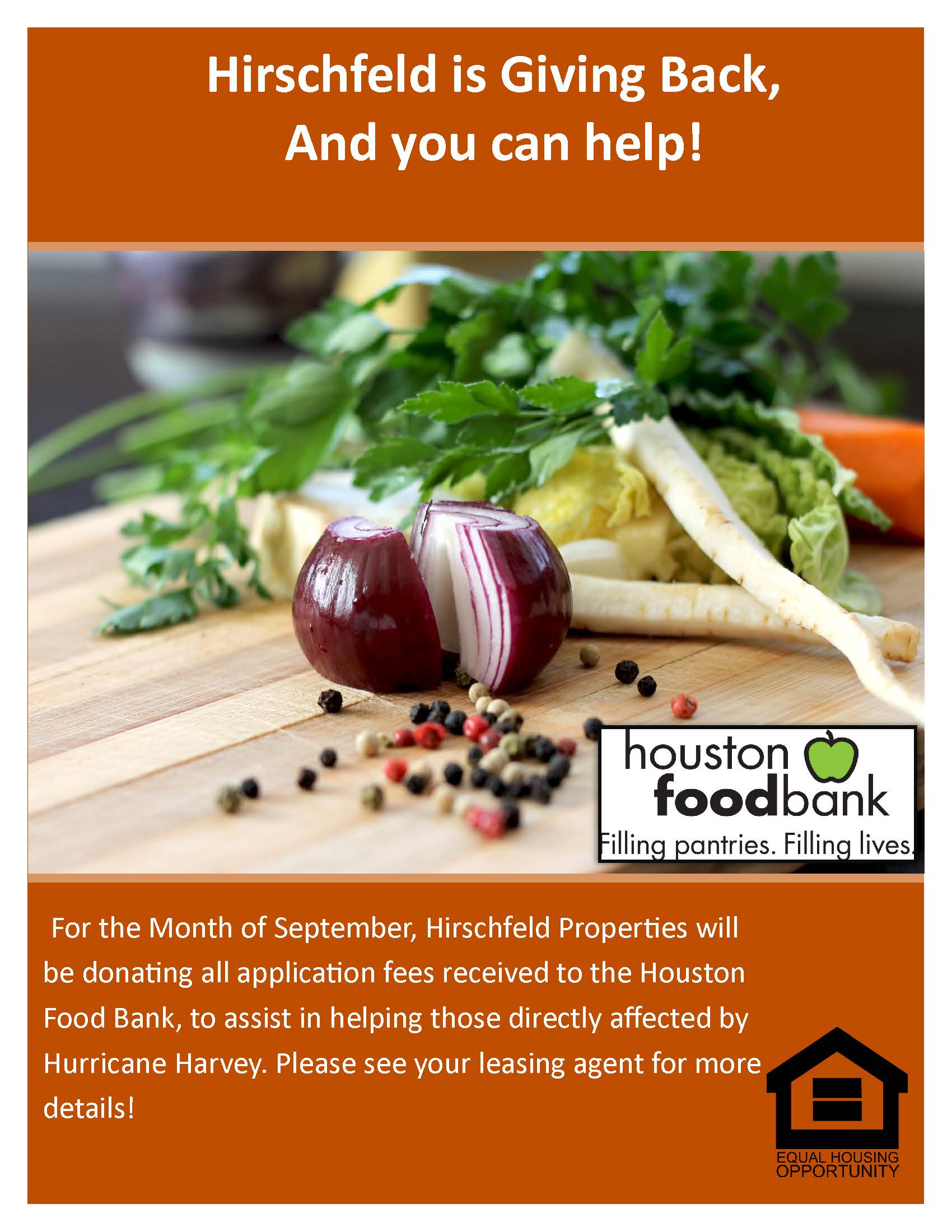 hirschfeld is giving back and you can help houston food bank donations
