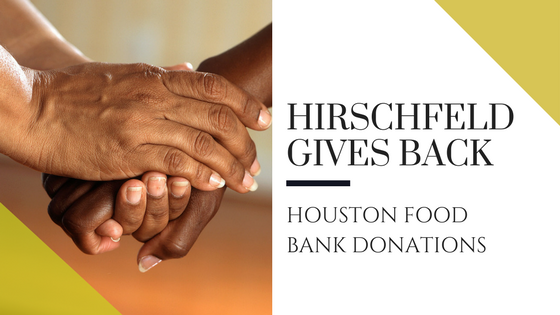 hirschfeld homes gives back ouston food bank donations
