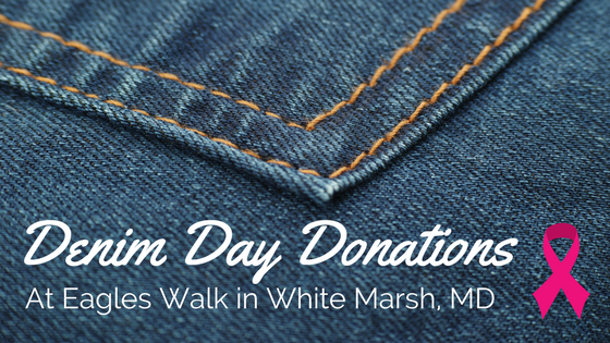 denim day donations at eagles walk in white marsh maryland