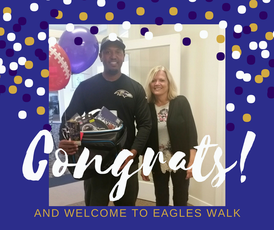 congrats and welcome to eagles walk