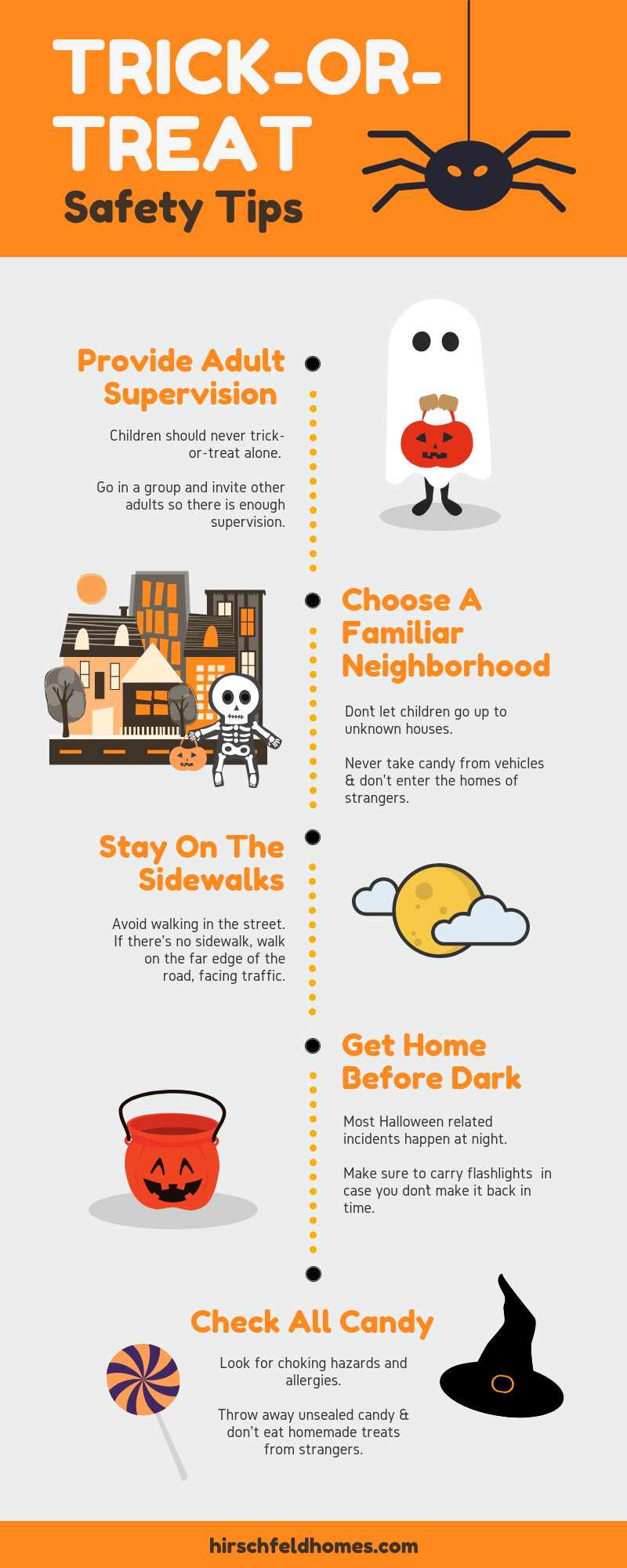 trick or treat safety infographic