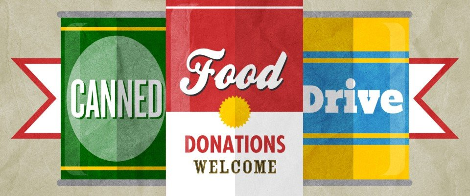 canned food drive food donations welcome
