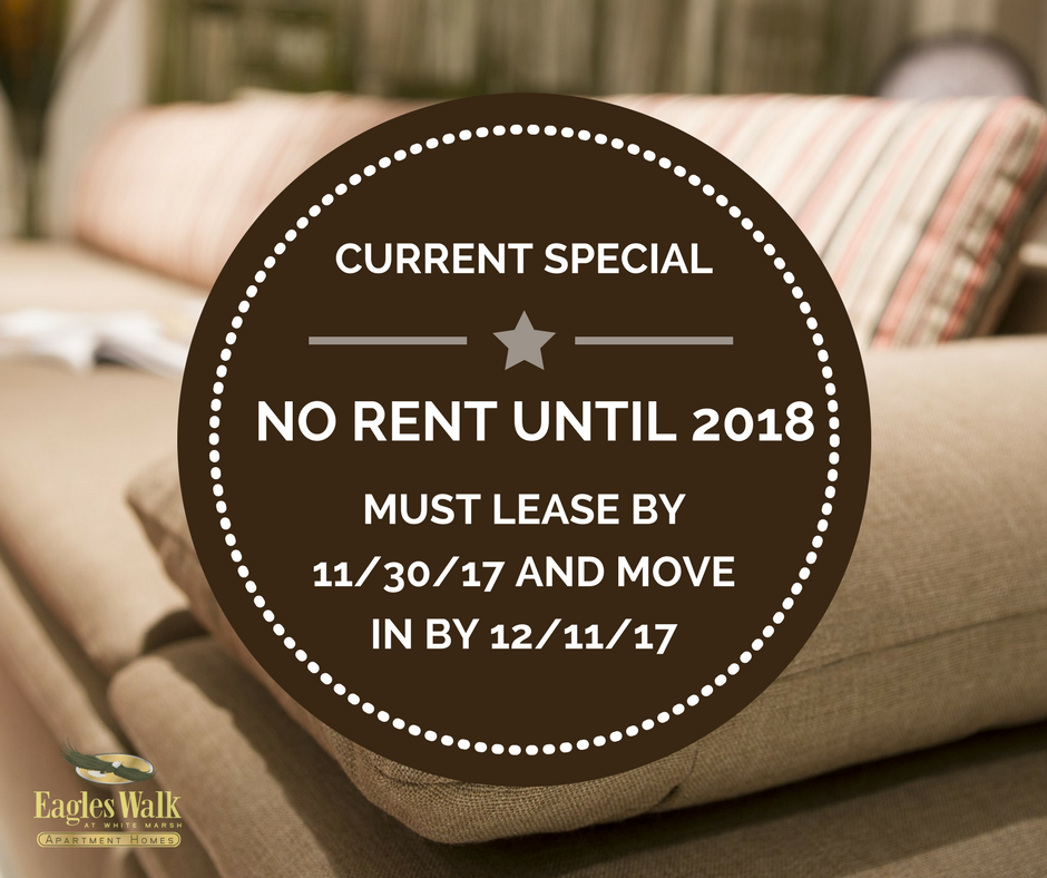 Current Special: NO RENT UNTIL 2018! Must lease by 11/30/17 and move in by 12/11/17