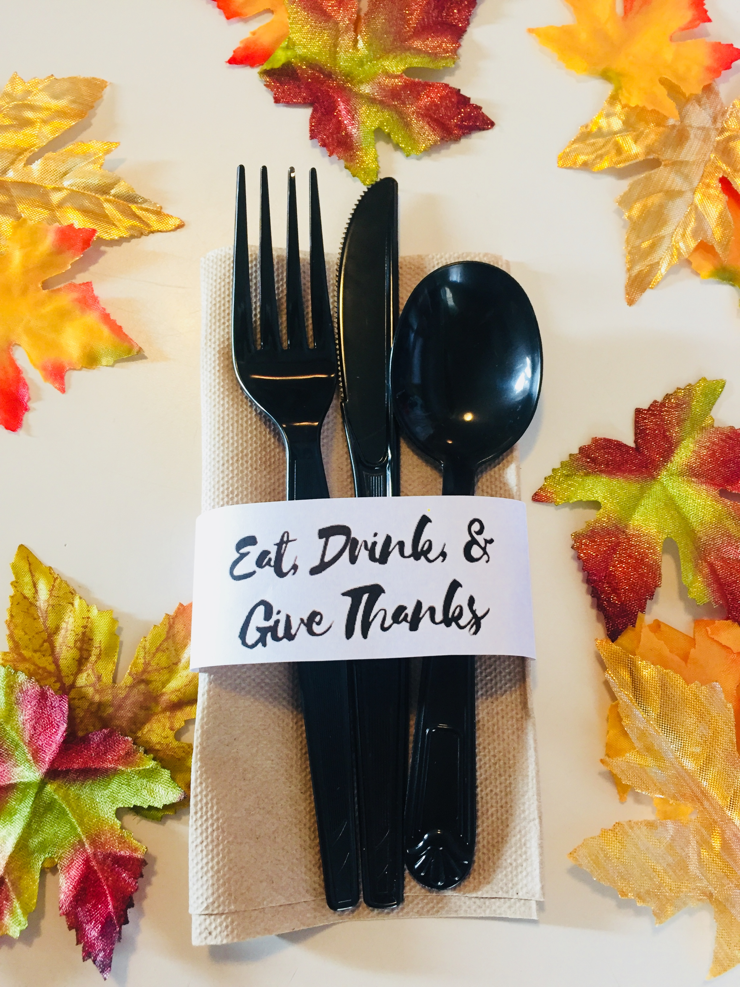 eat drink and be thankful do-it-yourself napkin ring