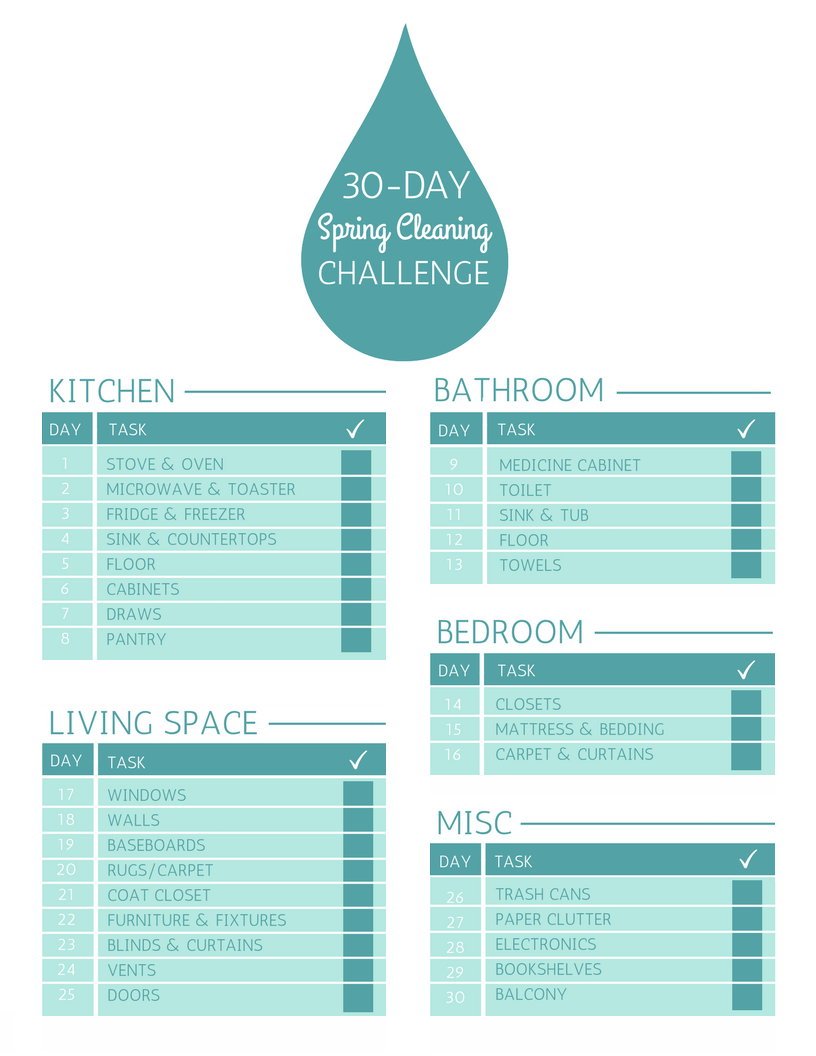 print the 30-day spring cleaning checklist