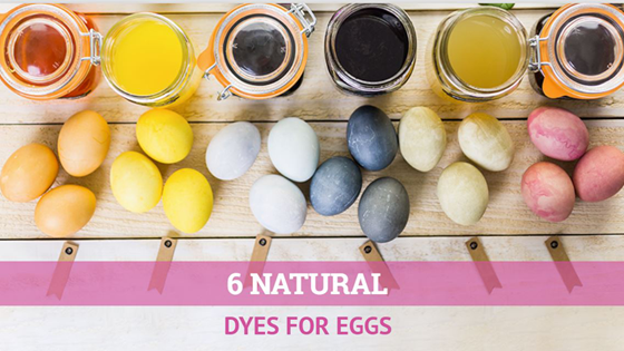 six natural dyes for eggs