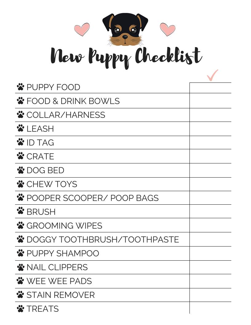 Bringing Home A New Dog Checklist