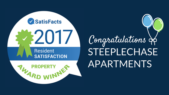 Congratulations Steeplechase 2017 National Resident Satisfaction Award presented by SatisFacts.