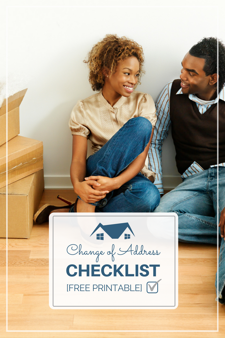 change of address checklist, free printable