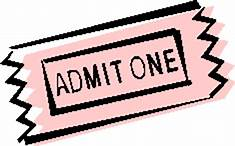 pink admit one ticket - mother's day raffle