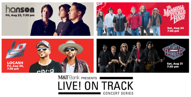 Maryland State Fair 2019 Concert series featuring Hanson, The Marshall Tucker Band, Locash, and Night Ranger