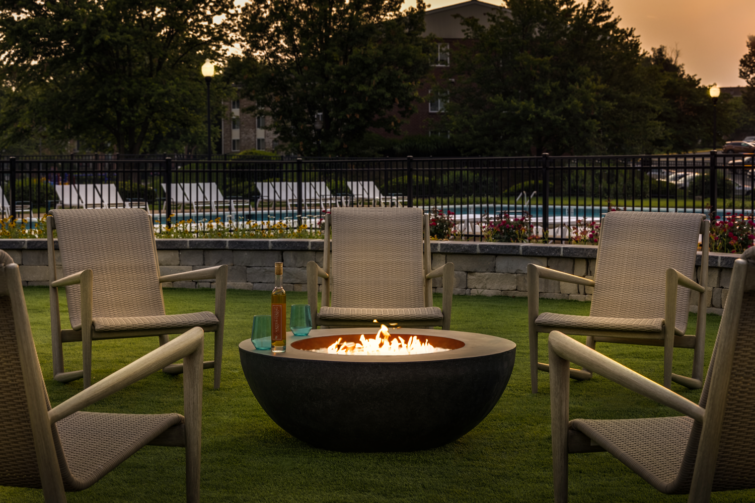 TowsonTown Place Apartments - Fire Pit Outdoor Area