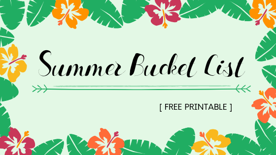 image relating to Bucket Printable titled Summer time Bucket Checklist Printable Hirschfeld Apaartments